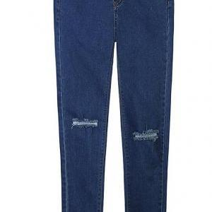 European style hole Washed Slim thi..